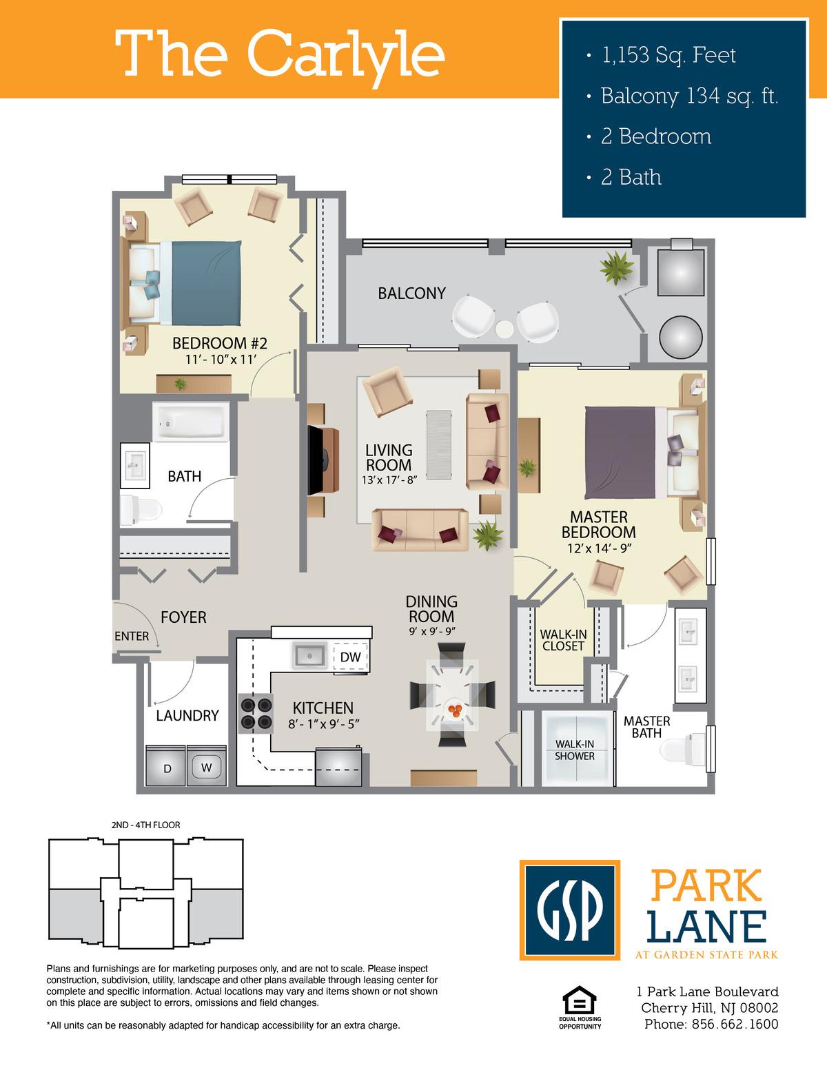 Park Lane Floor Plan Carlyle