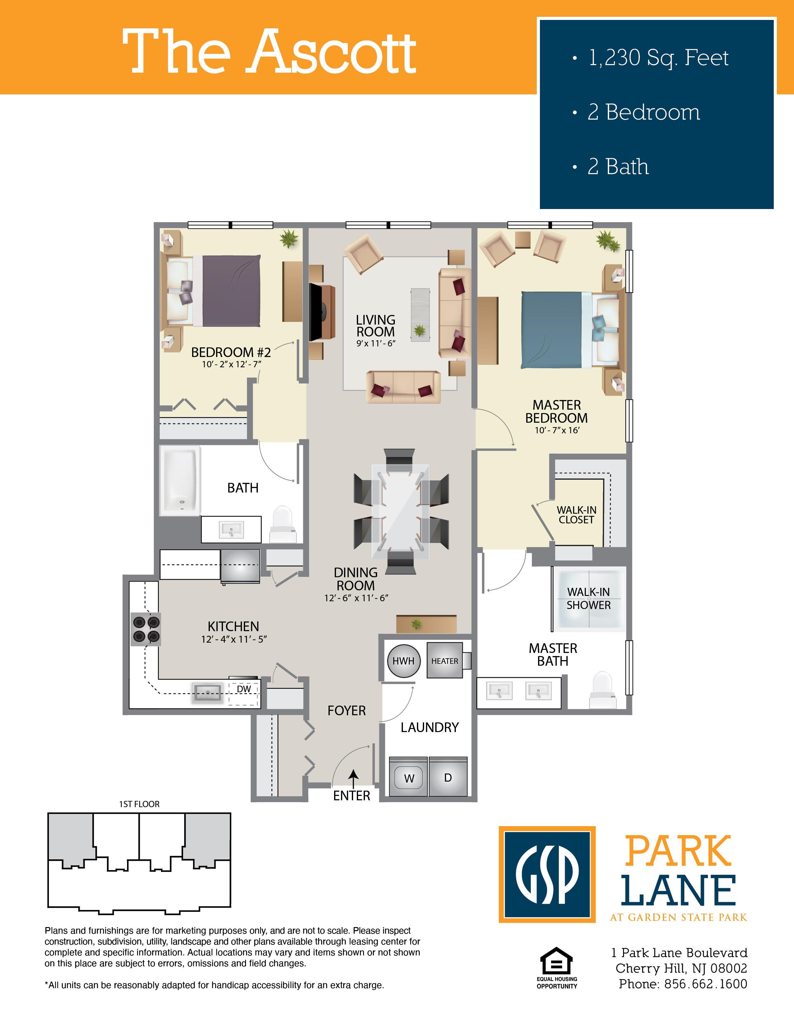 Park Lane Floor Plan Ascott