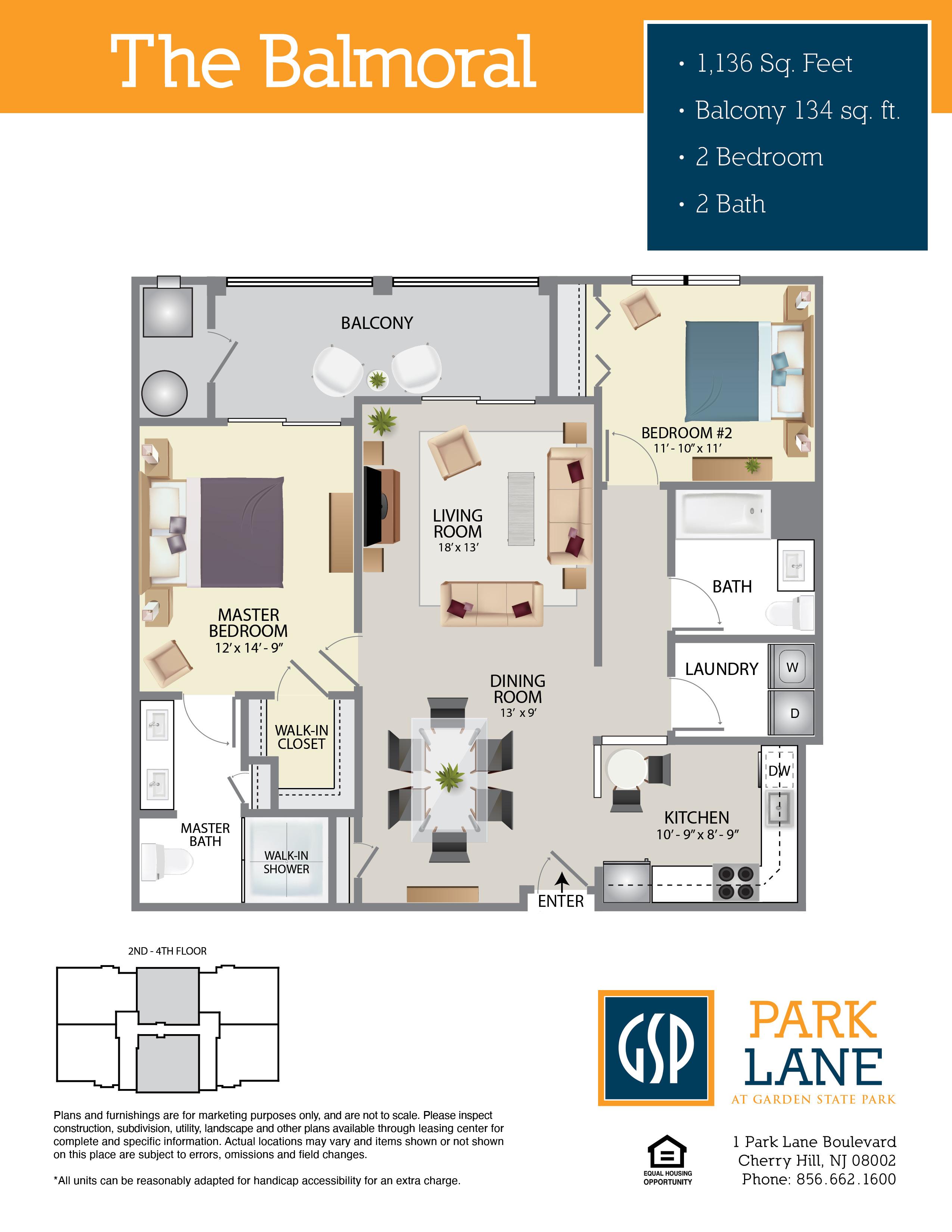 Park Lane Floor Plan Balmoral